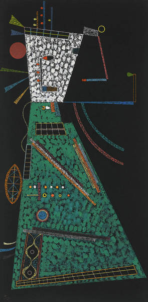Improvisations Wall Art - Painting - In Height, 1939 by Wassily Kandinsky