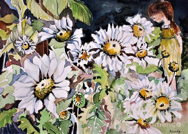 Enchantment Painting - In Her Daisy Garden by Mindy Newman