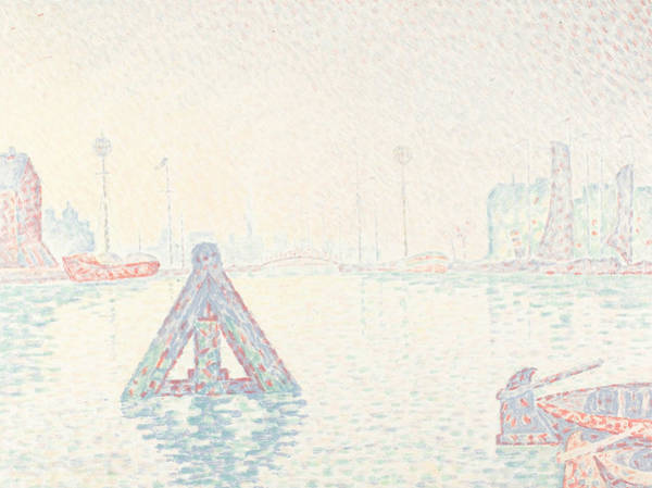 Wall Art - Relief - In Holland-the Buoy by Paul Signac
