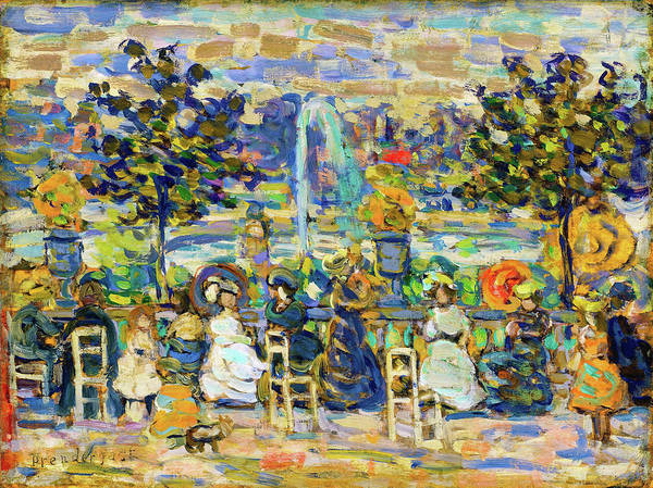 Wall Art - Painting - In Luxembourg Gardens - Digital Remastered Edition by Maurice Brazil Prendergast