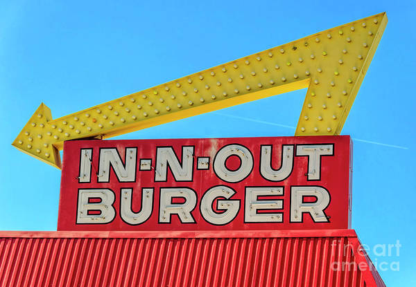 Wall Art - Photograph - In N Out Burger by Lenore Locken