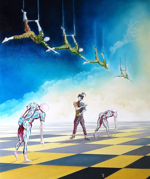 Trapeze Painting - In Search Of Answers by Fernando Rolla