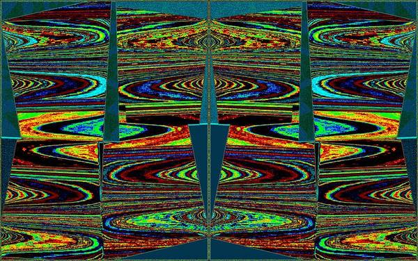 Wall Art - Digital Art - In Sync 7 by Will Borden