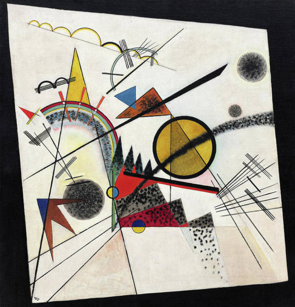 Wall Art - Painting - In The Black Square - Im Schwarzen Viereck by Wassily Kandinsky