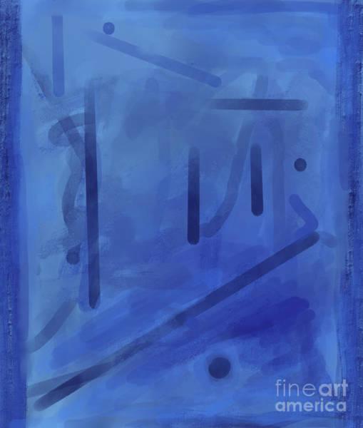In The Blue Mist Art Print