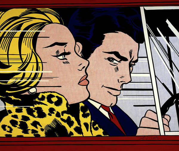 Photograph - In The Car - Signed by Doc Braham - In Tribute to Roy Lichtenstein