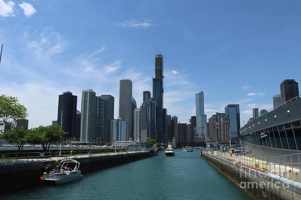 Wall Art - Photograph - In The Chicago Harbor Lock by Christiane Schulze Art And Photography