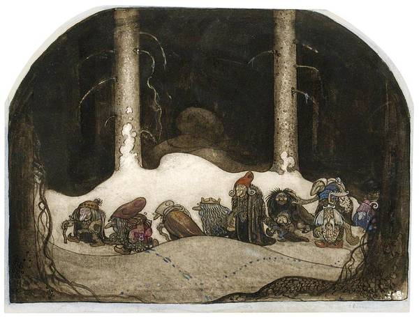 Wall Art - Painting - In The Christmas Night - Digital Remastered Edition by John Bauer