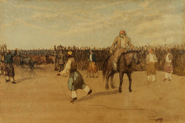 Painting - In The Corral by Prilidiano Pueyrredon