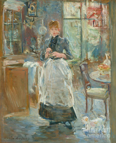 Wall Art - Painting - In The Dining Room, 1886 by Berthe Morisot