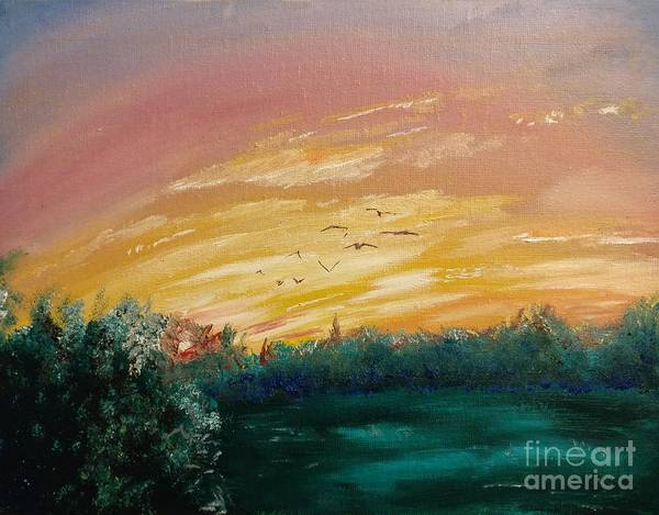 Painting - In The Evening by Abbie Shores