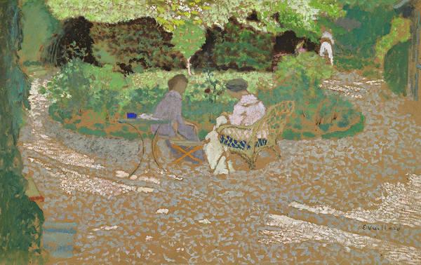 Wall Art - Painting - In The Garden, 1898 by Edouard Vuillard