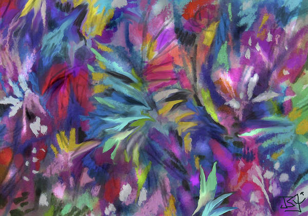 Painting - In The Garden Of Eden by Jean Batzell Fitzgerald