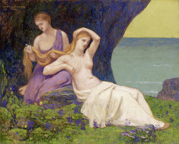 Wall Art - Painting - In The Heather - Digital Remastered Edition by Pierre Puvis de Chavannes