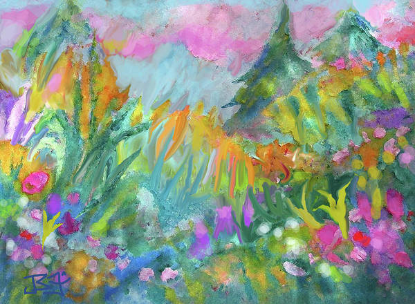 Digital Art - In The Meadow by Jean Batzell Fitzgerald