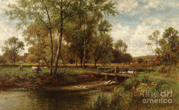 Wall Art - Painting - In The Meadows, Youngsbury, 1900 by Alfred Augustus Glendening