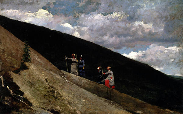 Wall Art - Painting - In The Mountains, 1877 by Winslow Homer