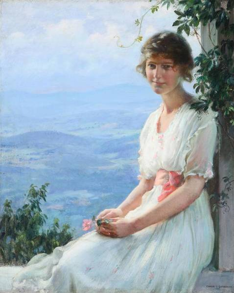 Wall Art - Painting - In The Mountains  by Charles Courtney Curran