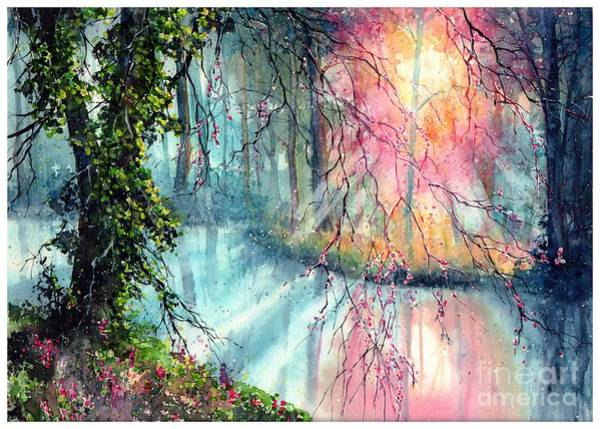 Watercolour Landscape Painting - In The Nature Reserve by Suzann's Art