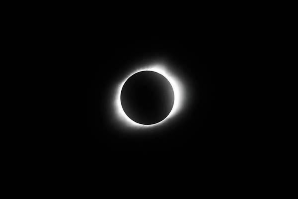 Photograph - In The Path Of Totality - Total Solar Eclipse 8.21.2017 - Monochrome by Gregory Ballos