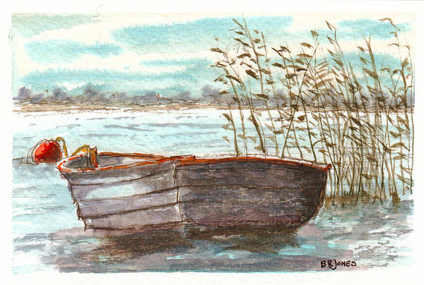 Painting - In The Reeds by Barry Jones