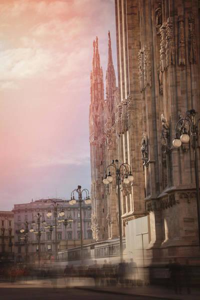 Duomo Photograph - In The Shadow Of Milan Duomo  by Carol Japp