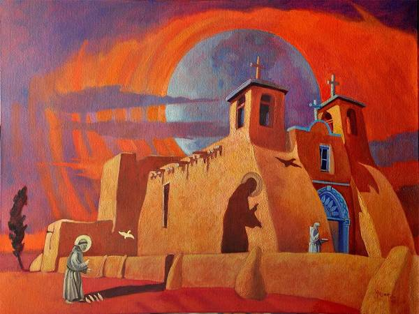 Painting - In The Shadow Of St. Francis by Art West