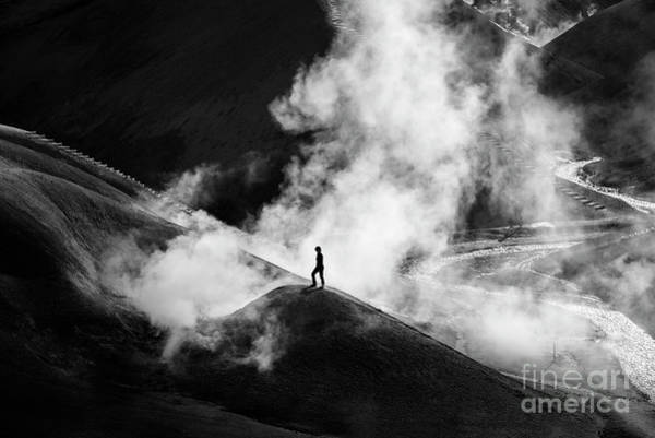 Photograph - In The Valley Of Sulfur B/w by Peng Shi