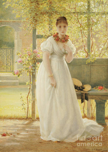 Wall Art - Painting - In The Walled Garden, 1869 by George Dunlop Leslie