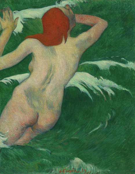 Wall Art - Painting - In The Waves, 1889 by Paul Gauguin