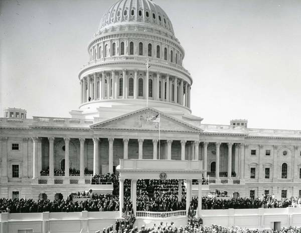 Inauguration Painting - Inauguration Ceremony For President John F  Kennedy On January 20  1961  by Celestial Images