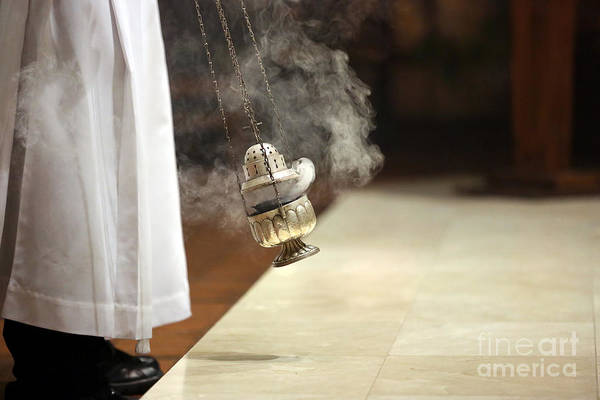Wall Art - Photograph - Incense During Mass At The Altar by Wideonet