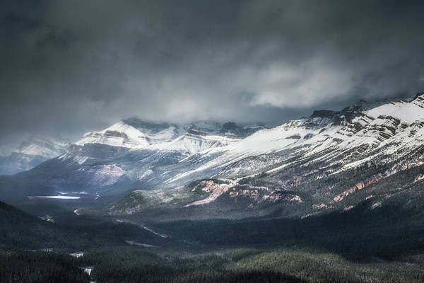 Peyto Lake Wall Art - Photograph - Incoming Snow by Chris Fletcher