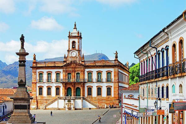 Town Square Wall Art - Photograph - Inconfidencia Museum, Ouro Preto, Minas by John W Banagan