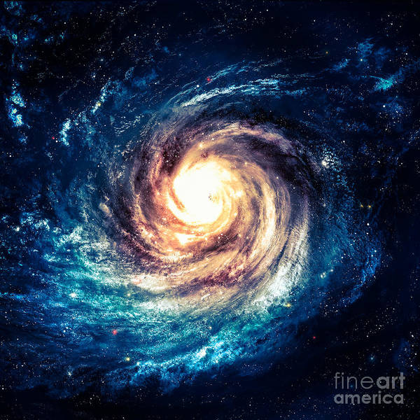 Astronaut Digital Art - Incredibly Beautiful Spiral Galaxy by Vadim Sadovski