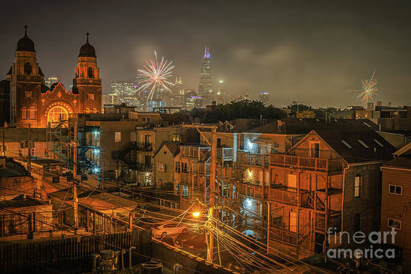 Near Photograph - Independence Day In Chicago by Bruno Passigatti