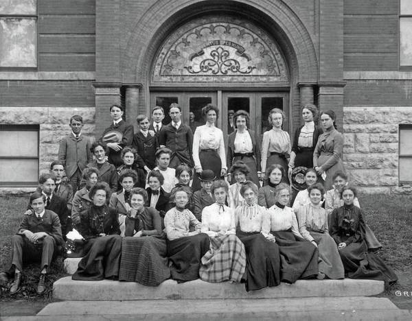 Painting - Independence High School, 1901 Graduating Class by Celestial Images