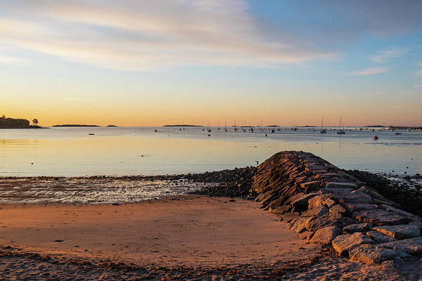 Photograph - Independence Park Beverly Ma Morning Light Breakwater by Toby McGuire