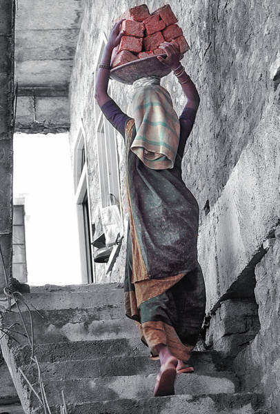 Headwear Photograph - India Bricks by Glenn Losack