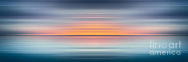 Blast Wave Wall Art - Digital Art - India Colors - Abstract Wide Oceanscape by Stefano Senise