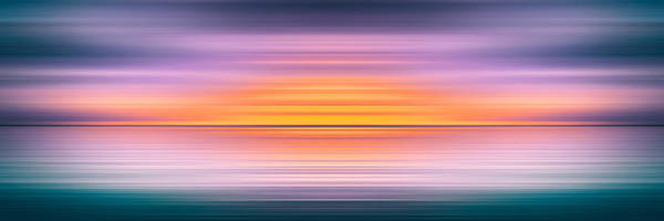 Blast Wave Wall Art - Mixed Media - India Colors - Abstract Wide Seascape by Stefano Senise