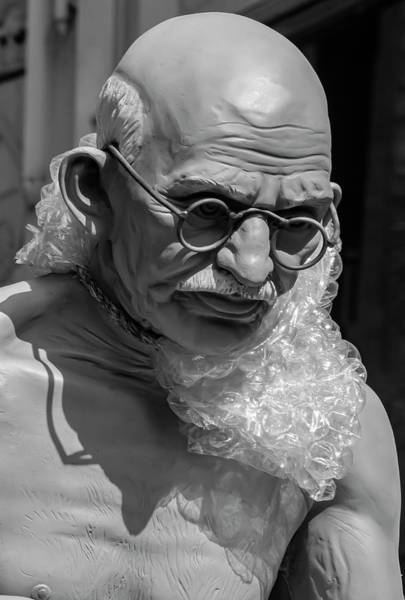 Photograph - India Day Nyc 8_18_2019 Ghandi Statue by Robert Ullmann