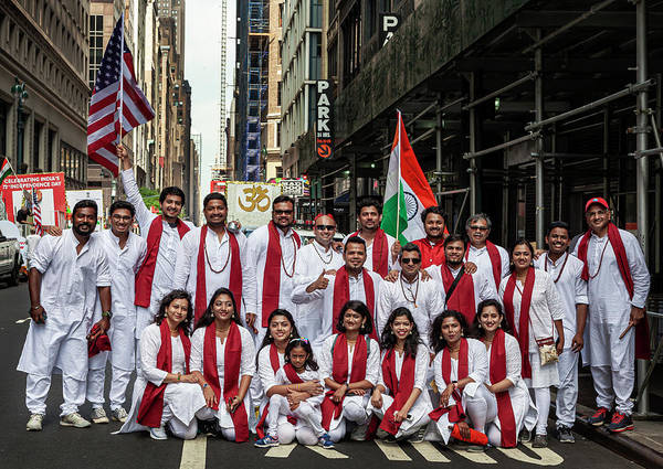 Photograph - India Day Nyc 8_18_2019 Group Photo by Robert Ullmann