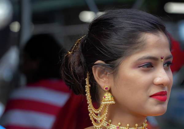Photograph - India Day Nyc 8_18_2019 Indian Woman by Robert Ullmann