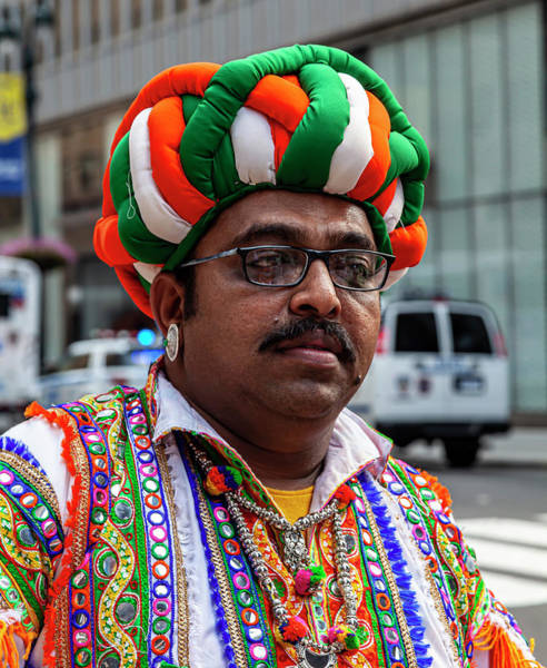 Photograph - India Day Nyc 8_18_2019 Man In Traditional Punjab Attire by Robert Ullmann