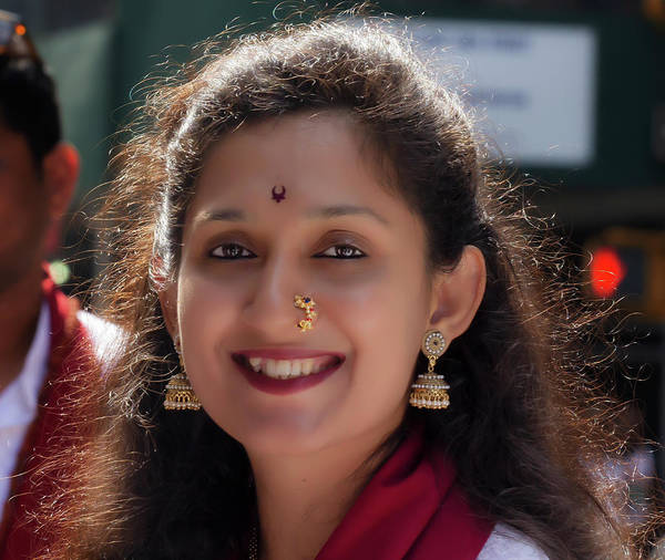 Photograph - India Day Nyc 8_18_2019 Woman In Traditonal Dress by Robert Ullmann