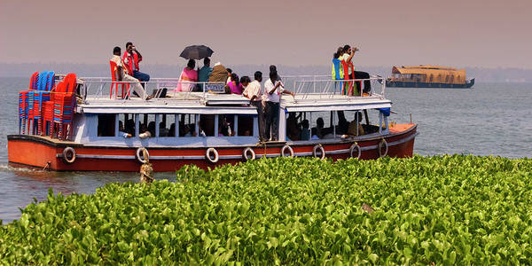 Kerala Photograph - India Kerala House Boat In Backwater by Travelstock44 / Look-foto