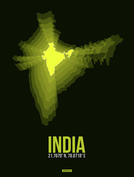Wall Art - Digital Art - India Radiant Map 2 by Naxart Studio