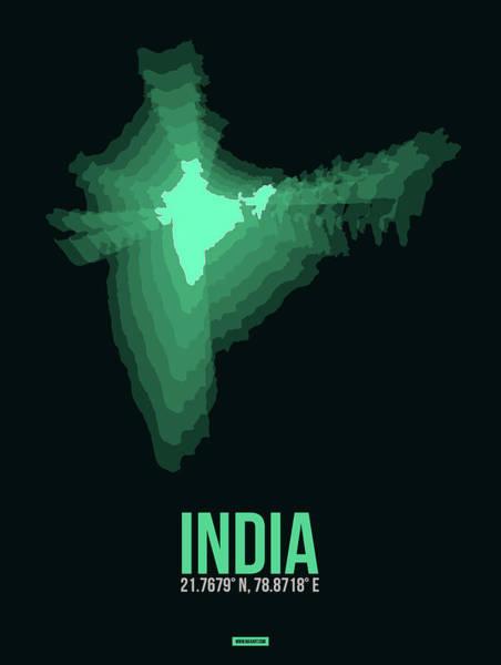 Eames Wall Art - Digital Art - India Radiant Map 3 by Naxart Studio