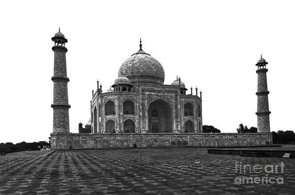 Wall Art - Photograph - India - Taj Mahal Bw by Stefano Senise